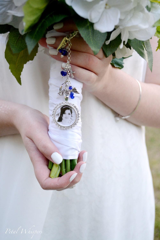 something blue bouquet charm wedding memorial charm bridal