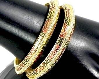 Handmade Indian Beautiful Fashion Jewelry Lac Meena Bracelets Bangles sizes 2.4-2.8