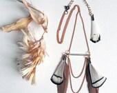 Collier Envol à plumes colorées