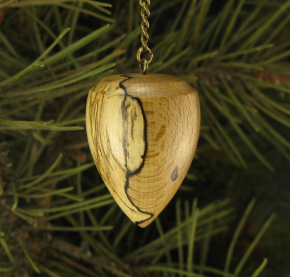 Spalted Beech Wood ~ Spalted beech wood pendulum wooden
