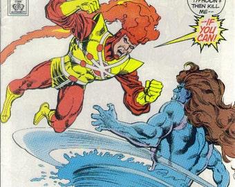 Firestorm, Newstand Variant, Superman Logo variant, Fury of Firestorm, dc comics, variant over, copper age dc comics, 1980s dc comics
