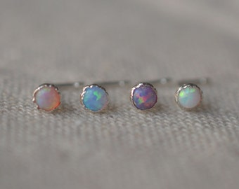 opal nose ring,tragus earring,opal cartilage earring,sterling silver nosering,bff gift