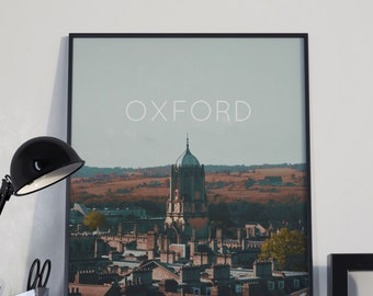 Oxford UK Poster 11x17 18x24 24x36