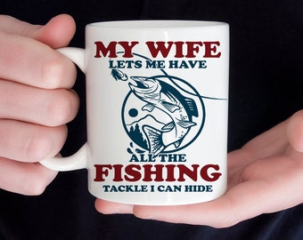 Coffee Mug Funny Fishing Coffee Cup  - Fishing Mug - Great Gift for Fisherman