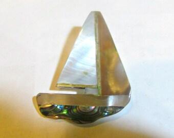 abalone brooch, sea shell broooch, vintage brooch, beach brooch, sea shell pin, abalone pendant, sea shell pendant, paua shell pendant