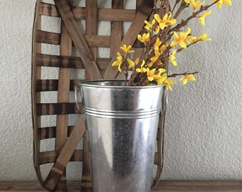 Galvanized Bucket with Handles
