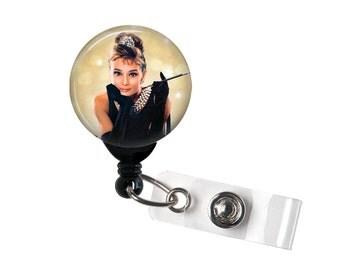 Audrey Hepburn, Retractable ID Badge Reel, Hollywood Actress