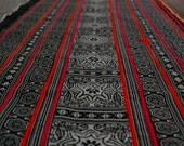 "Hmong Hill Tribe Batik Fabric Hand Woven Cotton DIY (2.5 m./100"")"