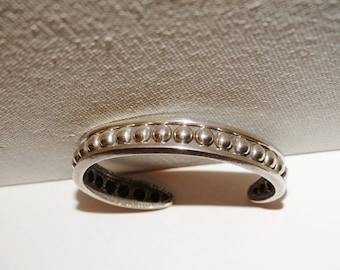 Vintage Napier Sterling Stamped Cuff Bracelet.