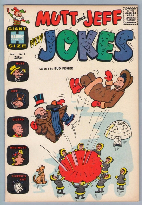 Mutt and Jeff New Jokes 2 Jan 1964 VF (8.0)