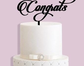 Congrats Celebration/Graduation Cake Topper