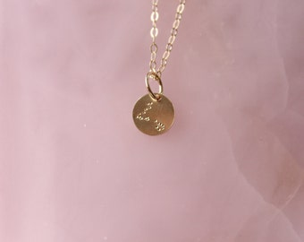 Pisces zodiac constellation gold filled necklace