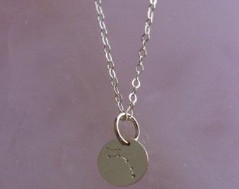 Ursa Minor    Little Dipper constellation necklace
