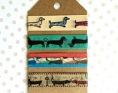 "Dachshund Washi Tape Sample Set (40"") for Planner, Scrapbook, kikki.K, Filofax, Fauxdori"