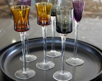 Tall Coloured Shot & Liqueur Glasses