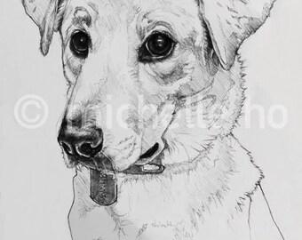 Custom Portrait (Pen and Ink)