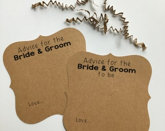Advice Cards for the Bride & Groom, Wedding Advice Cards, Words of Wisdom for the couple, Well Wishes, Wedding