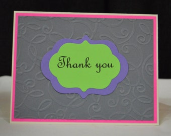 Thank You Greeting Card Set of 5