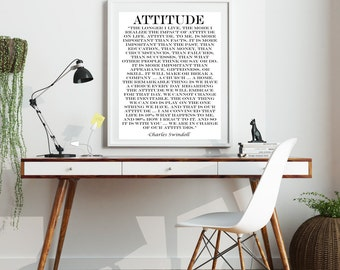 Attitude Quote, Charles Swindoll Quote, Poster, 8 X10  Print, Inspirational Quote, Motivational Quote, Wall Art, Art Print, Success Quote