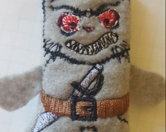 Mad Cat finger puppet/ Finger fight puppet/ Thumb wars puppet