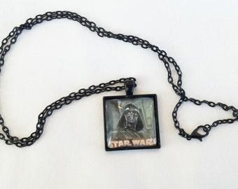 Darth Vader necklace, star wars necklace, Darth Vader pendant,