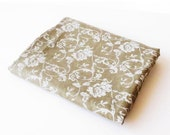 "On sale 128"" Pure Linen Fabric Cloth White Brown Roses Hight Quality Unique Floral Flower Ornaments 150 cm x 325 cm ( 59"" x 128"" ) 3,55 Yard"