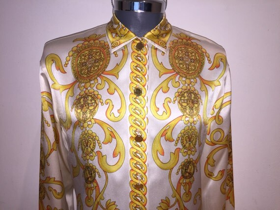 Versace style silk shirt dsquared2 uk for Versace style shirt mens