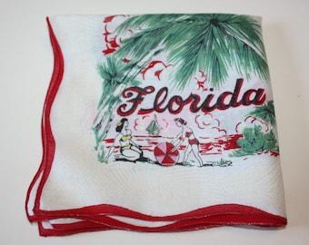 Sweet Florida State Map Vintage Handkerchief