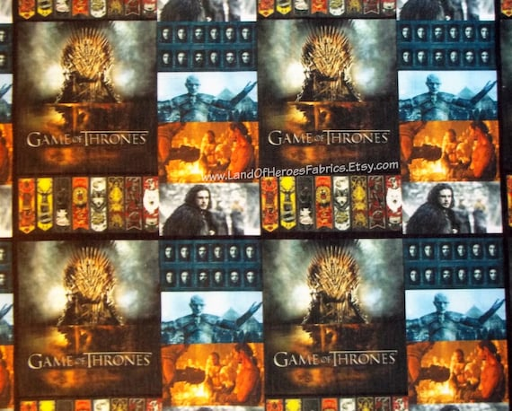 Winter Is Coming Game Of Thrones On Cotton Poly Fabric By