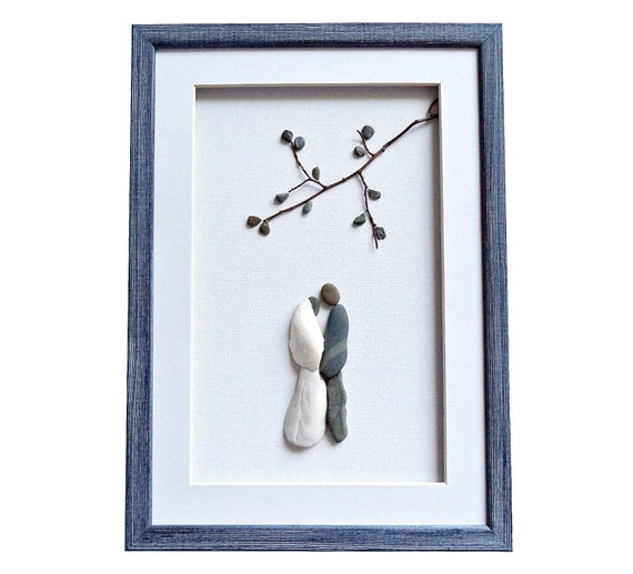 Wedding Gift Wall Art : wedding pebble art gift, Elegant and romantic wedding framed wall art ...