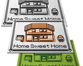 "Pokemon, ""Home Sweet Home"" - 24"" x 36"" Doormat Welcome Floormat"