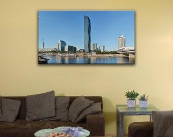 "Donau City, Vienna (14"" x 24"") - Canvas Wrap Print"