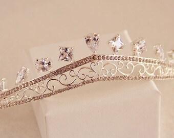 Vintage Bridal Tiara, Swarovski Crystal Wedding Tiara, Wedding Hair Accessories, Bridal Crown