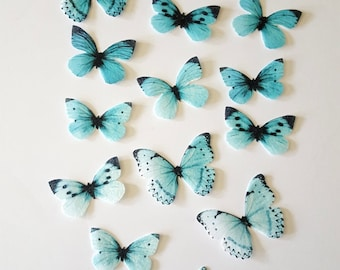 Edible Butterflies, Ombre Double-Sided Wafer Paper Toppers for Cakes, Cupcakes, Cookies or Drinks