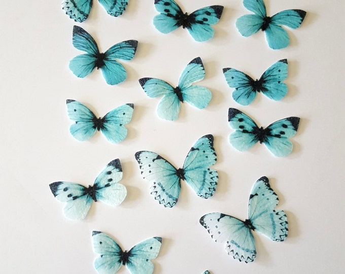 Edible Butterflies, Ombre Double-Sided Wafer Paper Toppers for Cakes, Cupcakes or Cookies