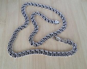 Handmade Sterling Silver Bismark Necklace