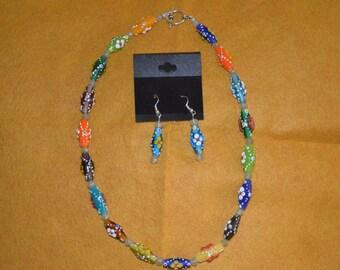 Oblong flowered beads