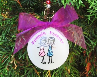 Girl friends ornament,friends, bff, friend gift, mom ,christmas ornament ,mother gift ,mom gift, girl friends gift,