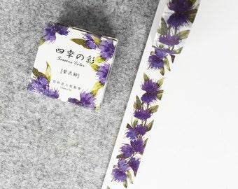 Cute washi tape - purple flowers #2 | Cute Stationery