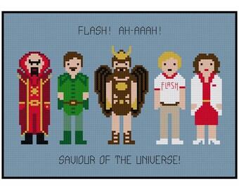 Flash Gordon Pixel People - Cross Stitch PDF Pattern Instant Download