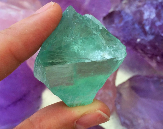RAW Green Fluorite Healing Crystals Perfect Jewelry Making Supplies