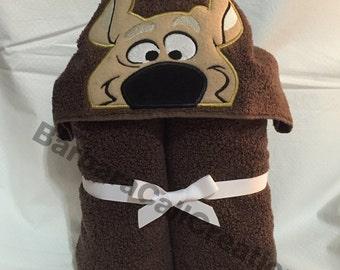 Hooded Bath Towel - Silly Dog