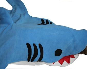big shark bag sleeping bag adult gray or blue