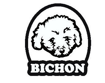 bichon frise vinyl sticker decal any color or size - Frise Vinyle