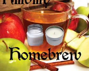 Hillbilly Homebrew Soy Candle 8 oz Soy Wax Mason Jar Candle, Handmade, Hand Poured Pick Your Style and Color