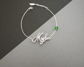 30% OFF -- Name Bracelet - Personalized Name Bracelet - Dainty Name Bracelet - Personalized Jewelry - Bridesmaid Gifts