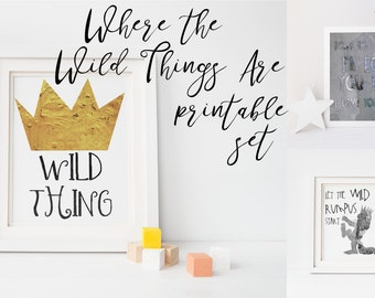 Where the Wild Things Are. Ill Eat You Up I Love You So. Where the Wild Things Are Printable. Nursery Printable.