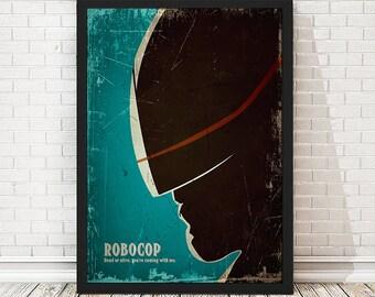 Robocop Vintage Movie Poster, Vintage Poster, Minimalist Poster
