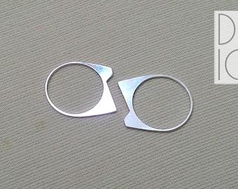 cat ears ring silver