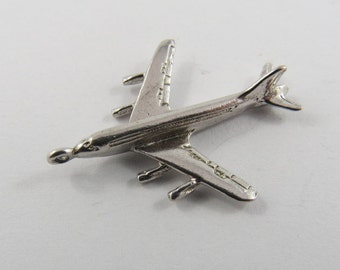 A Large Jet Airplane Sterling Silver Charm or Pendant.